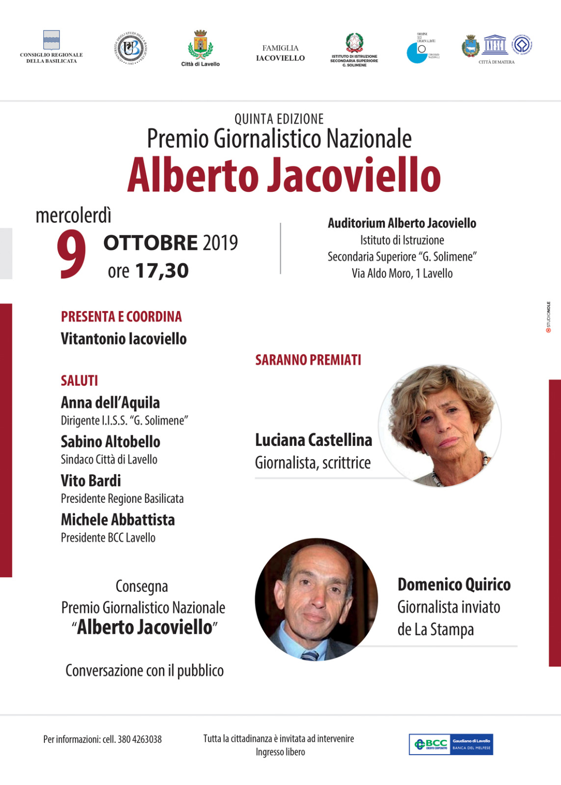Premio Jacoviello 2019